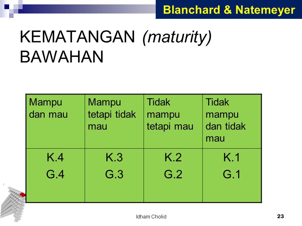 KEMATANGAN (maturity) BAWAHAN