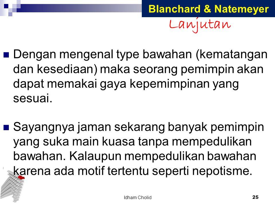 Blanchard & Natemeyer Lanjutan.