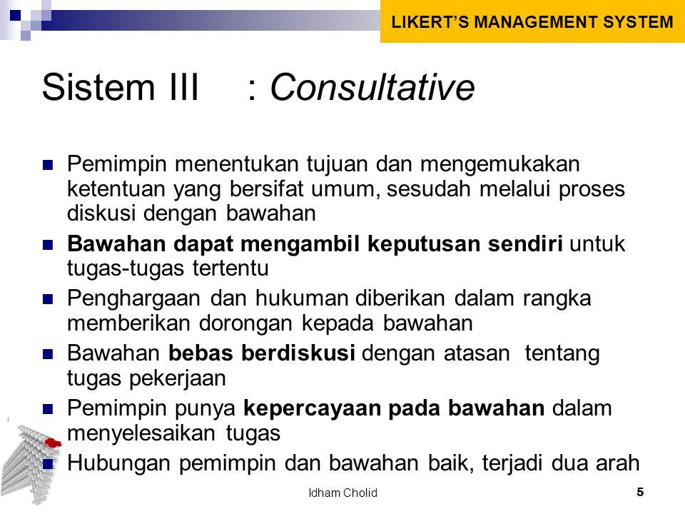 Sistem III : Consultative