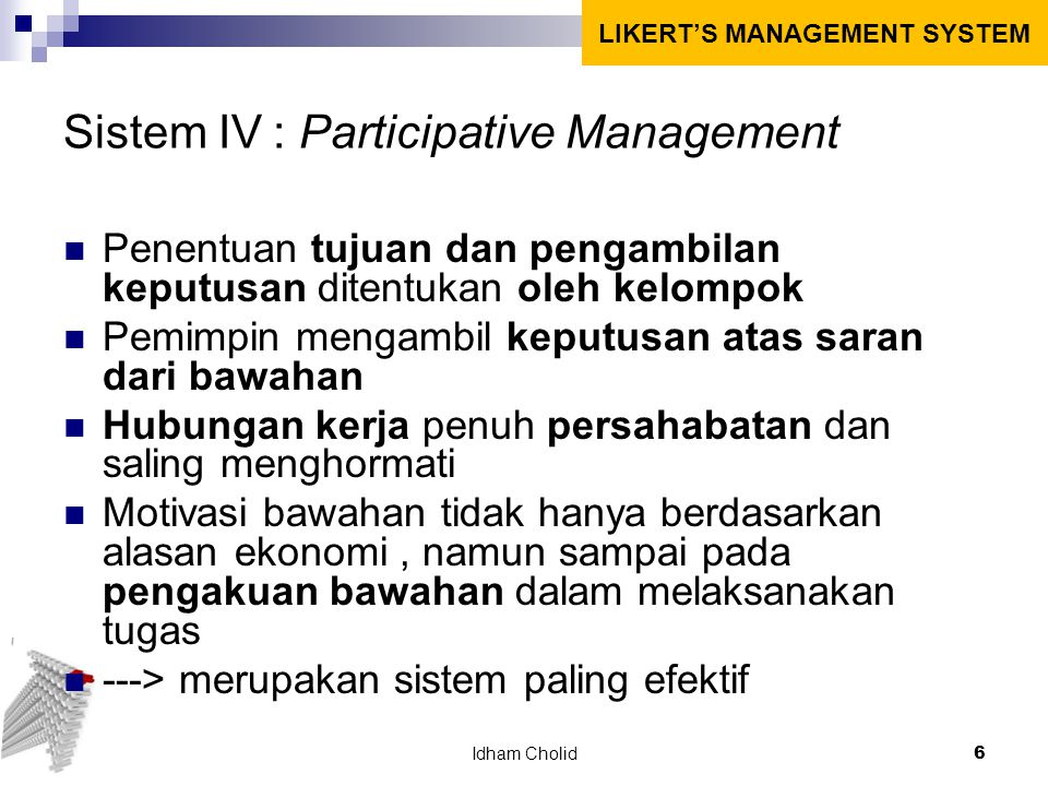 Sistem IV : Participative Management
