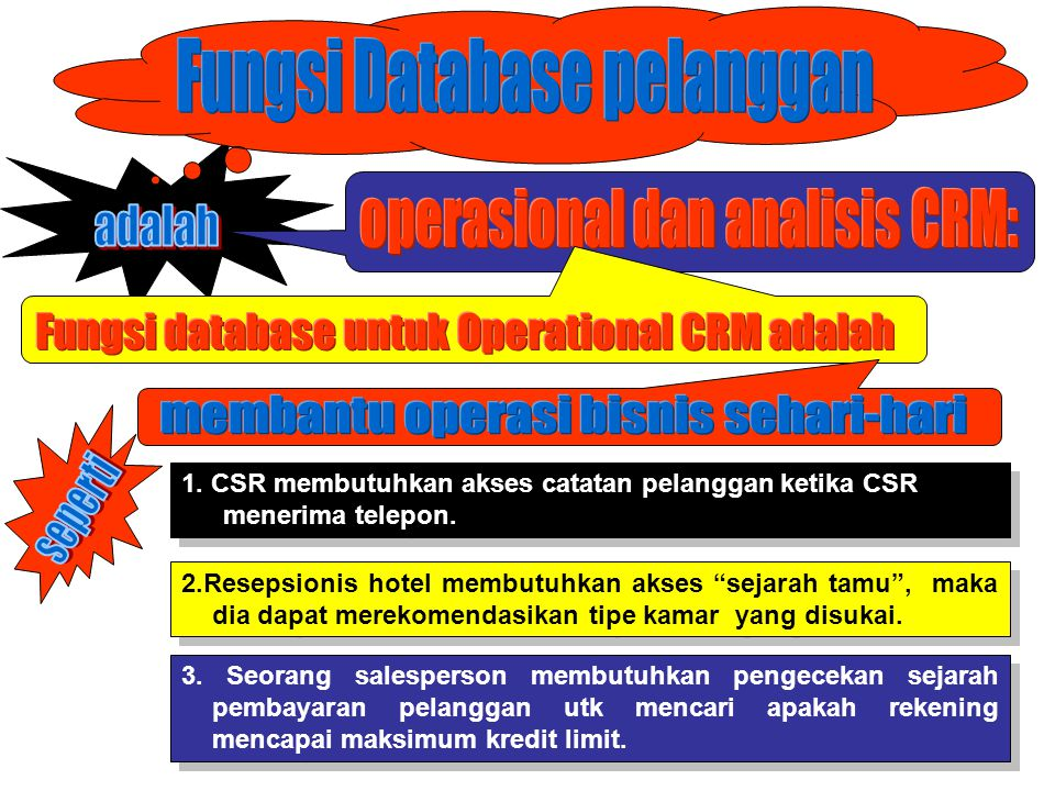 Fungsi Database pelanggan