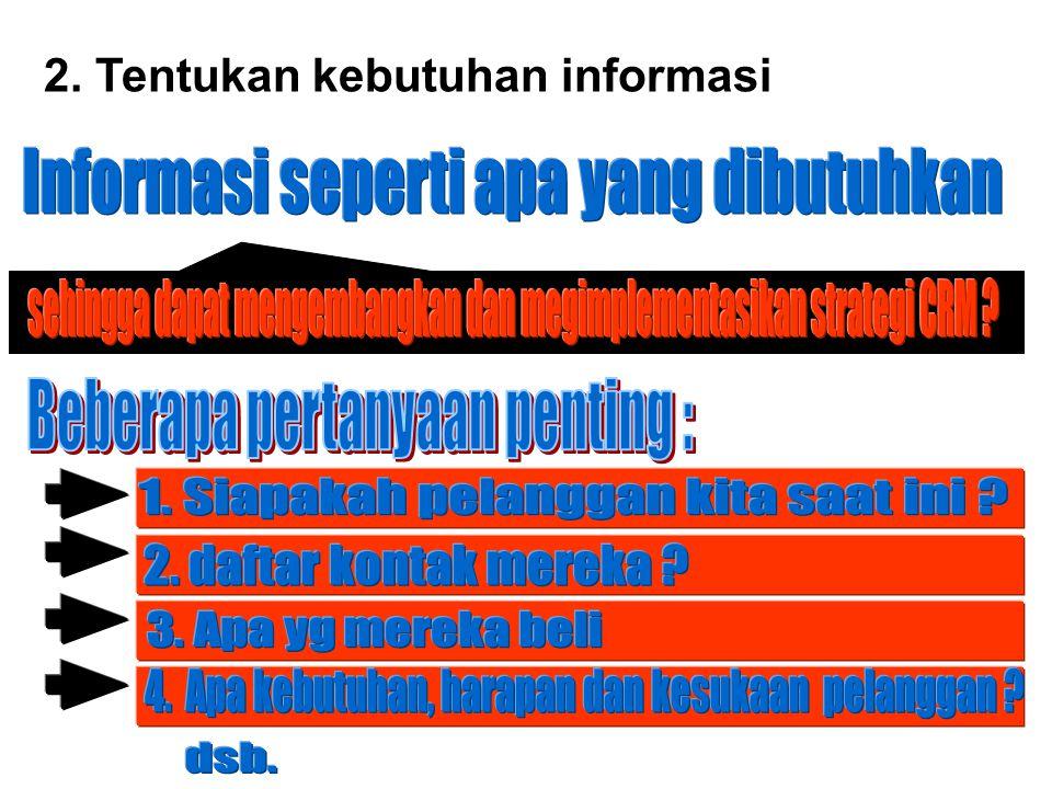 Informasi seperti apa yang dibutuhkan