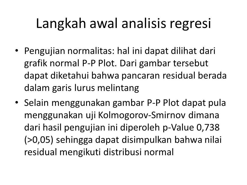 Langkah awal analisis regresi