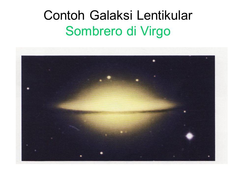 Contoh Galaksi Lentikular Sombrero di Virgo