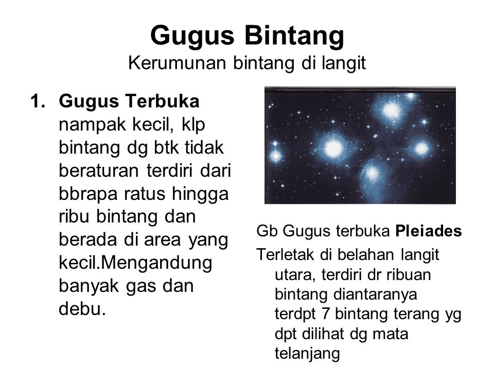 Gugus Bintang Kerumunan bintang di langit