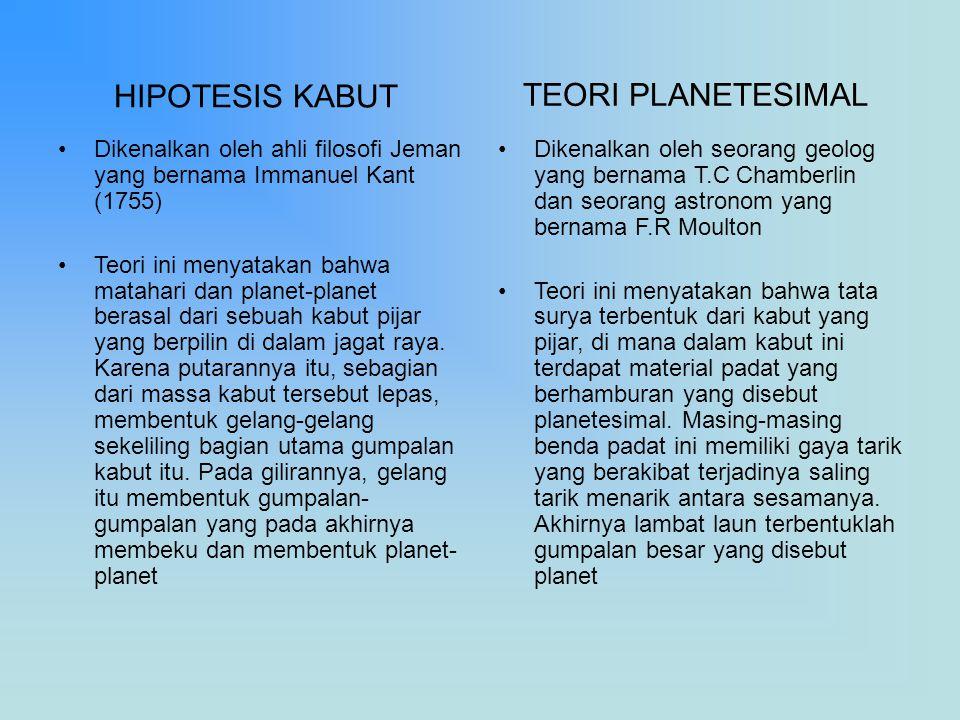 TEORI PLANETESIMAL HIPOTESIS KABUT