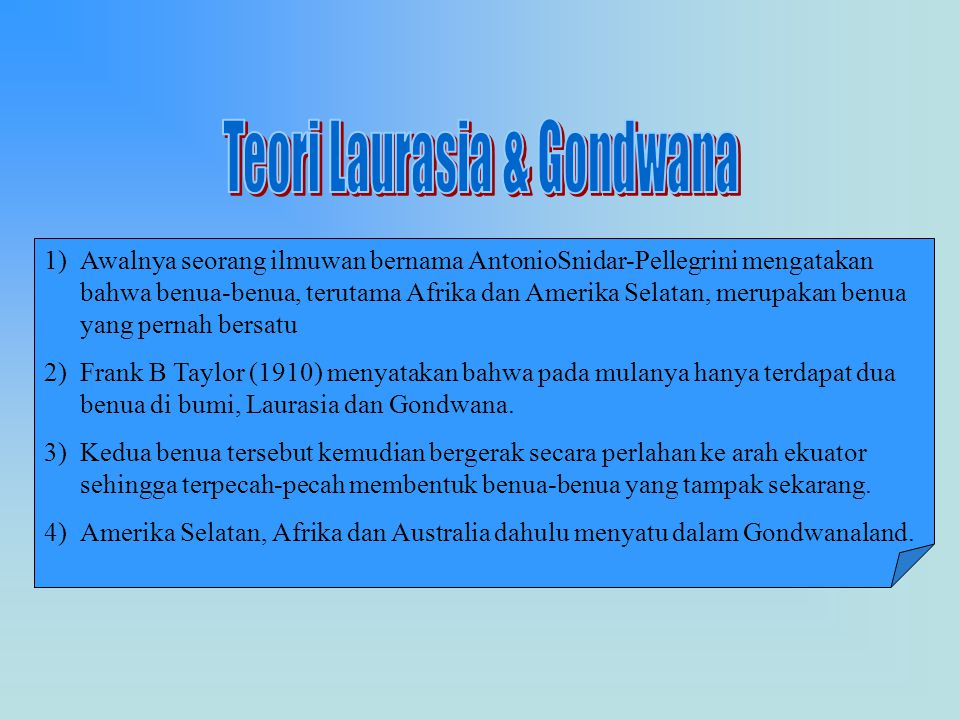 Teori Laurasia & Gondwana