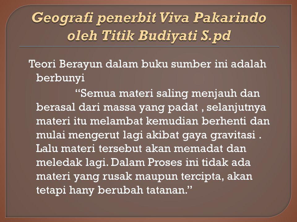 Geografi penerbit Viva Pakarindo oleh Titik Budiyati S.pd