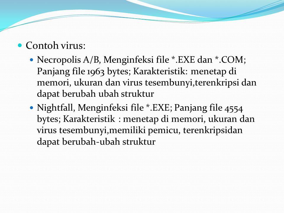 Contoh virus: