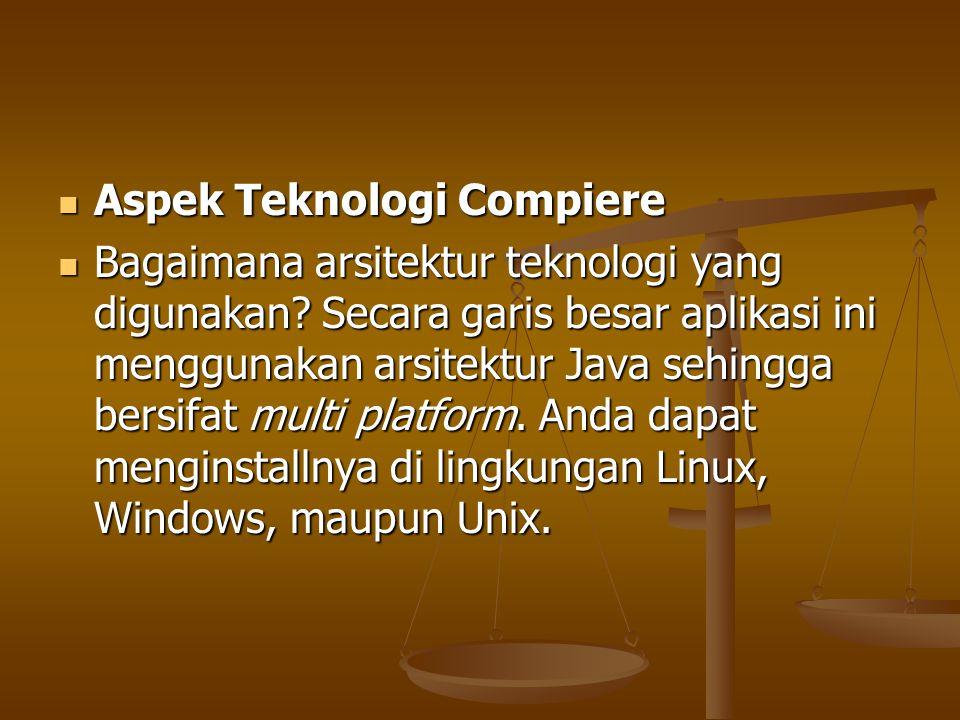 Aspek Teknologi Compiere