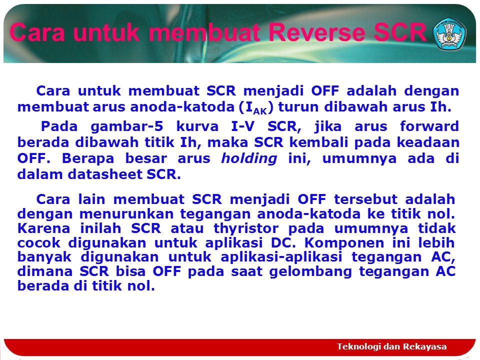Cara untuk membuat Reverse SCR