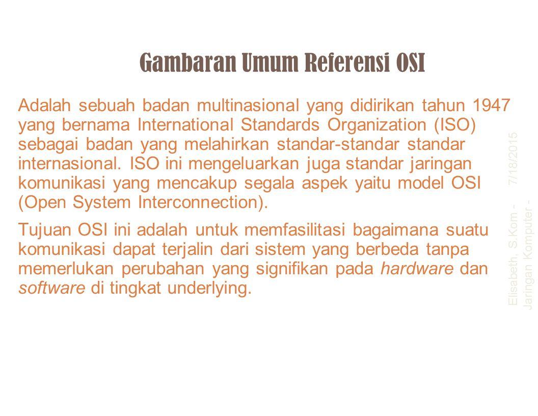 Gambaran Umum Referensi OSI