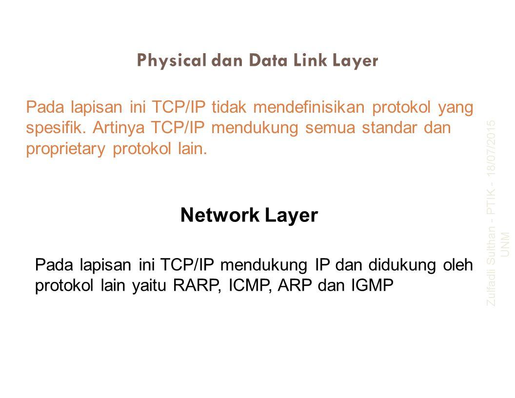 Physical dan Data Link Layer