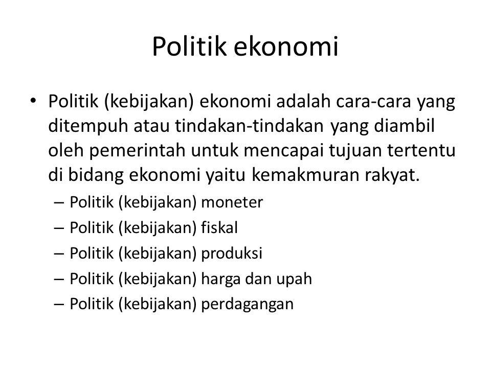 Politik ekonomi