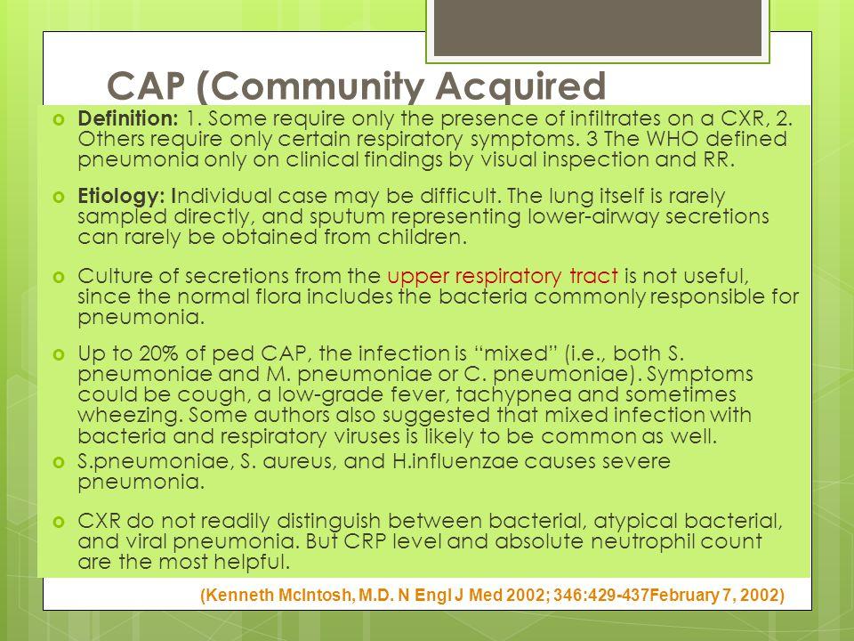 CAP (Community Acquired Pneumonia)