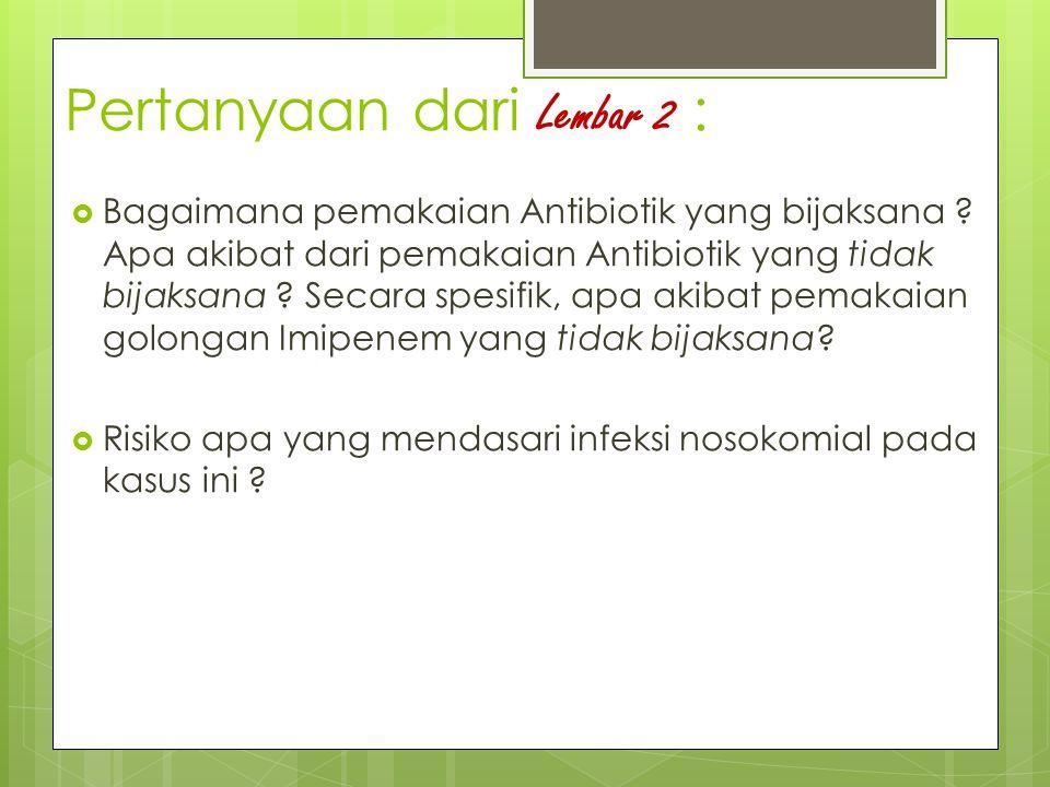 Pertanyaan dari Lembar 2 :