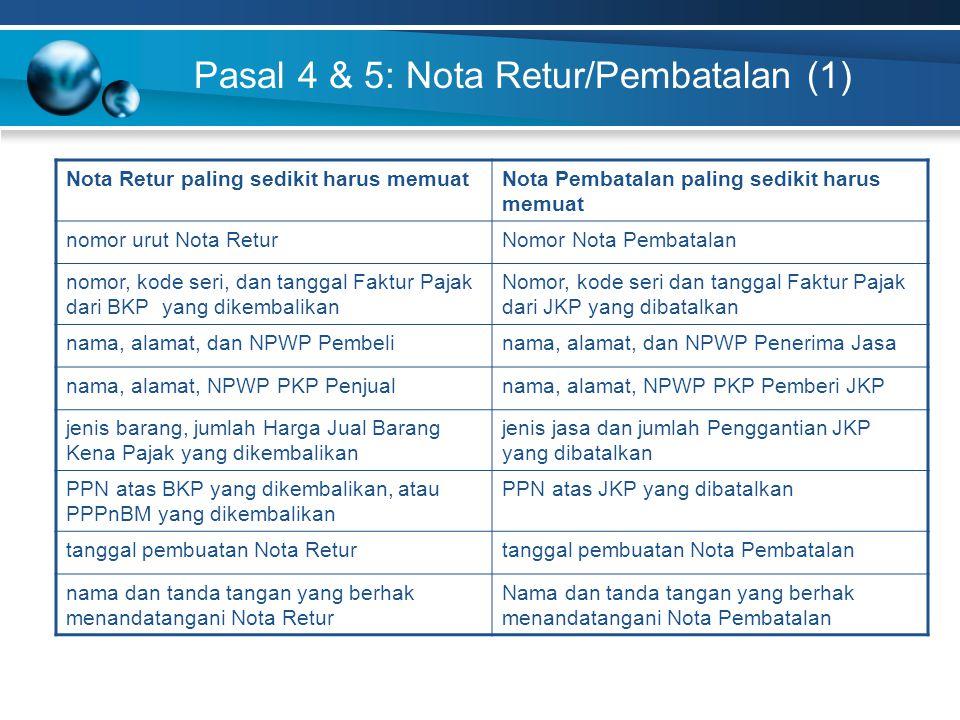 Pasal 4 & 5: Nota Retur/Pembatalan (1)
