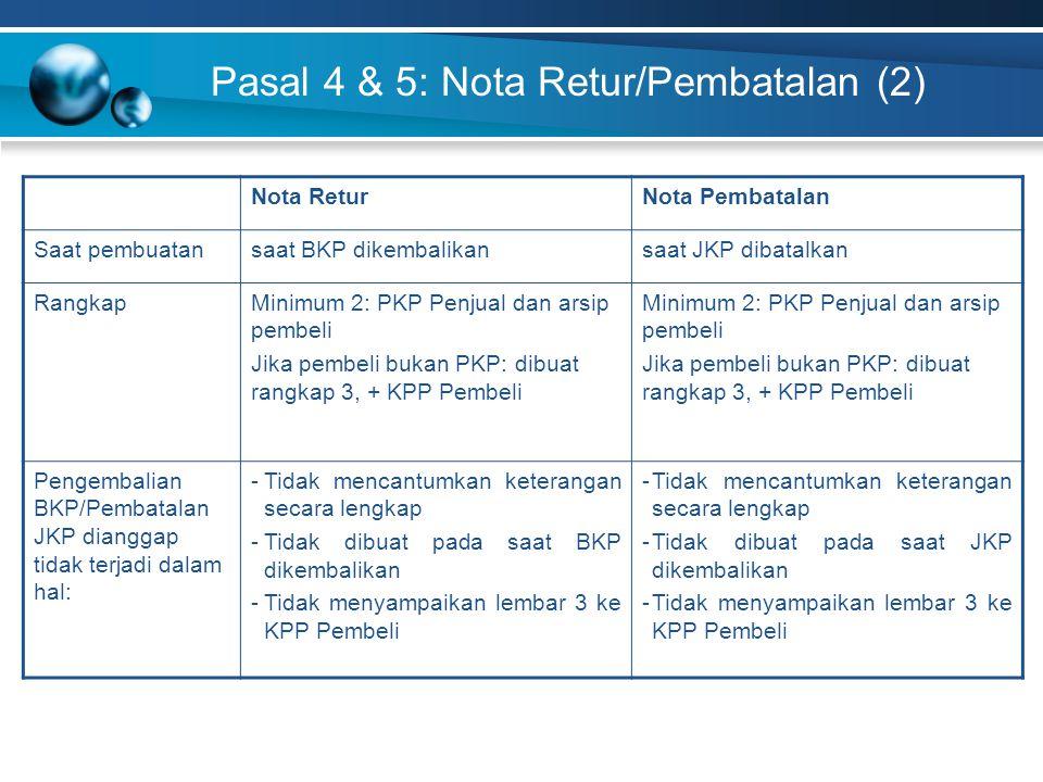 Pasal 4 & 5: Nota Retur/Pembatalan (2)