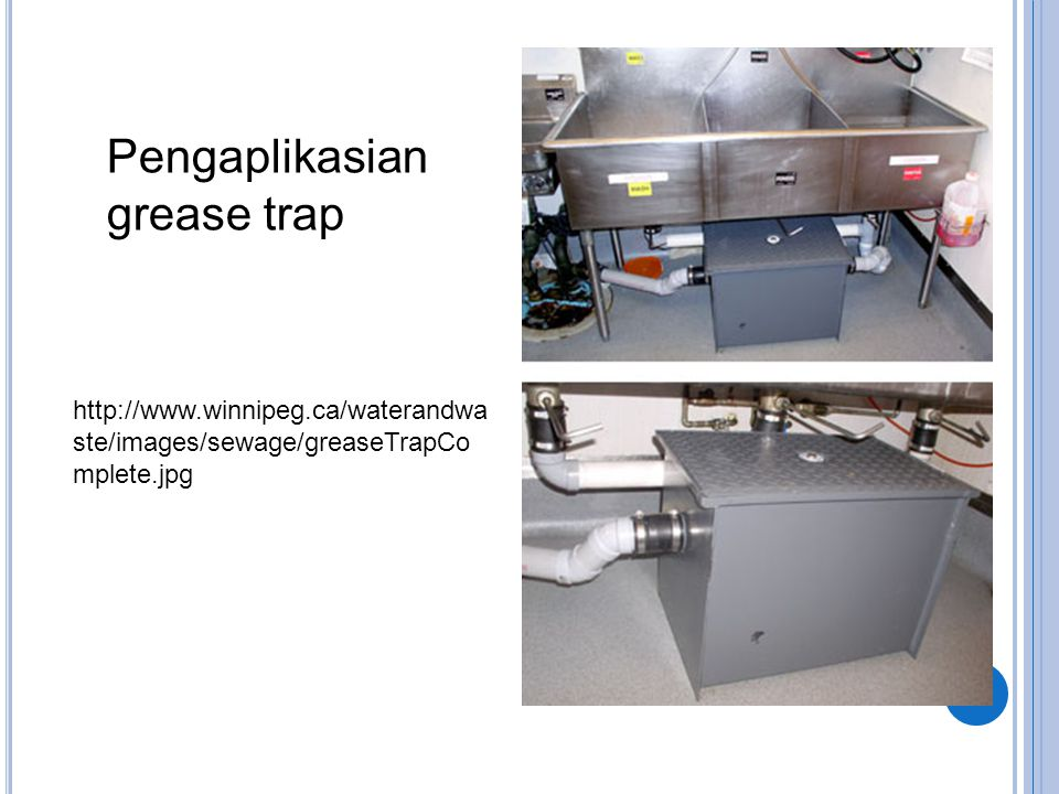 Pengaplikasian grease trap