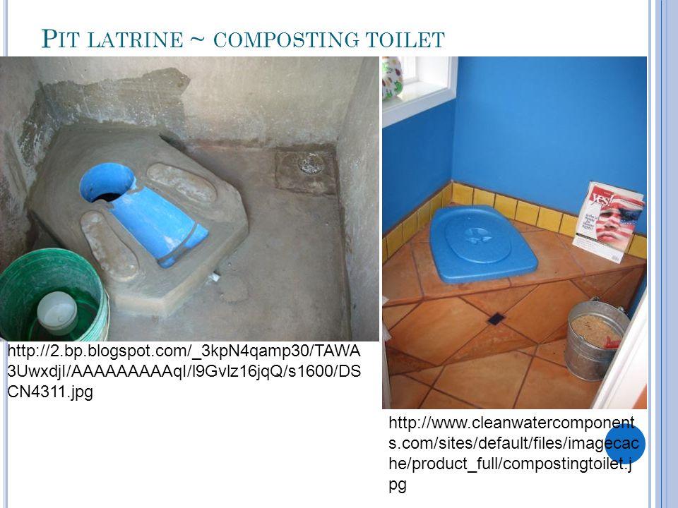 Pit latrine ~ composting toilet
