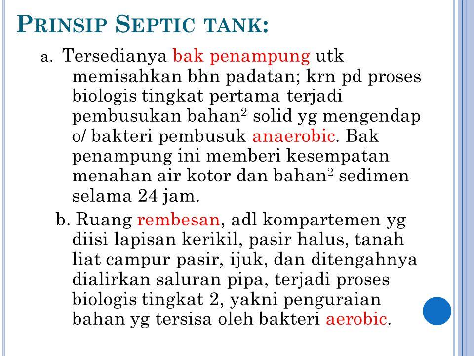 Prinsip Septic tank: