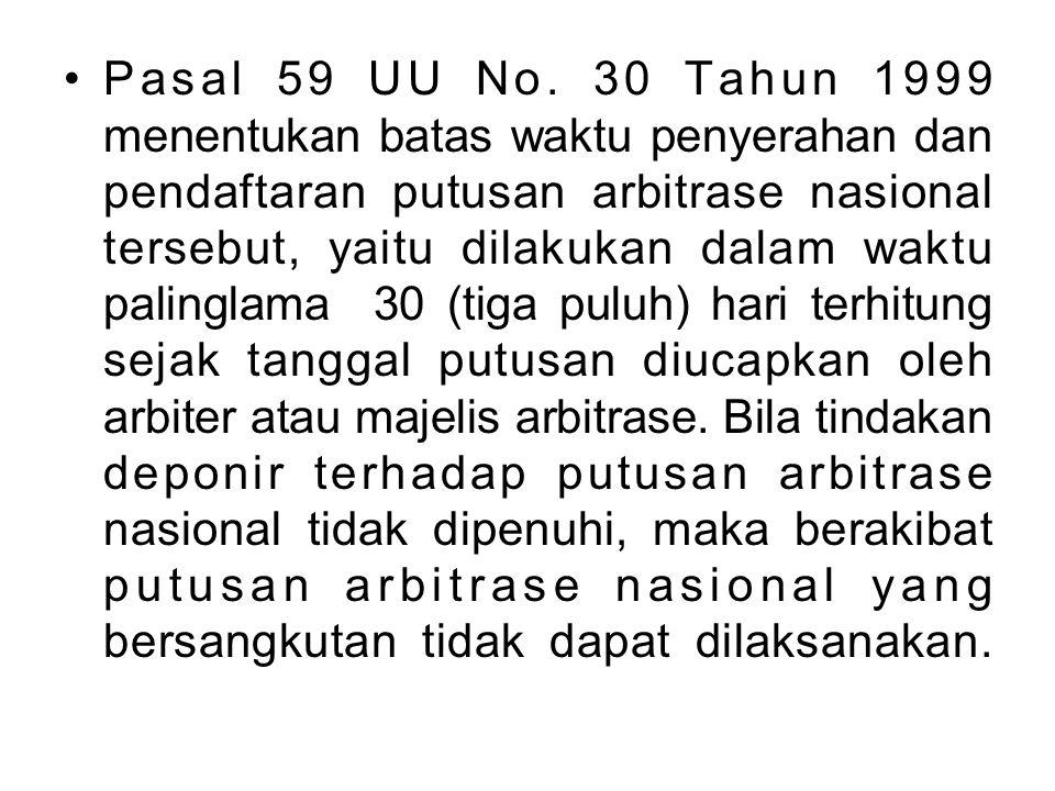 Pasal 59 UU No.