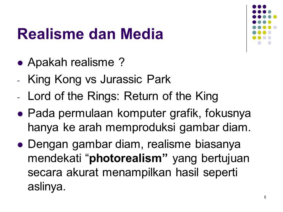 Realisme dan Media Apakah realisme King Kong vs Jurassic Park