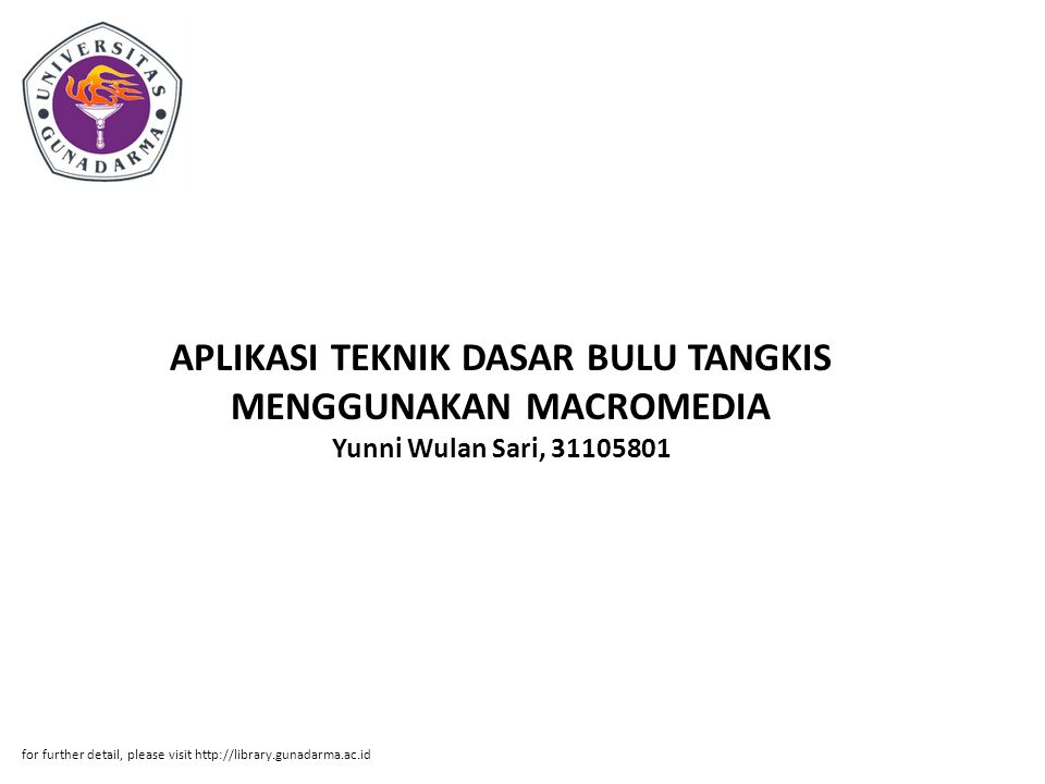 APLIKASI TEKNIK DASAR BULU TANGKIS MENGGUNAKAN MACROMEDIA Yunni Wulan Sari, 31105801