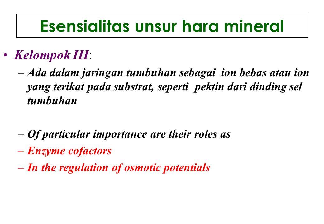 Esensialitas unsur hara mineral