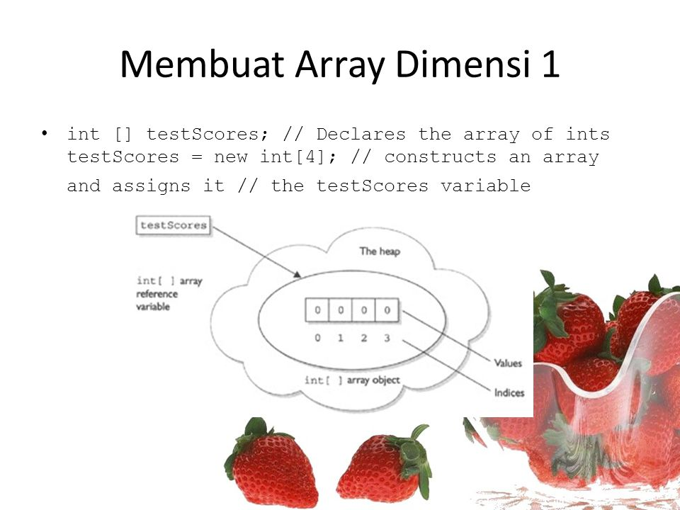 Membuat Array Dimensi 1