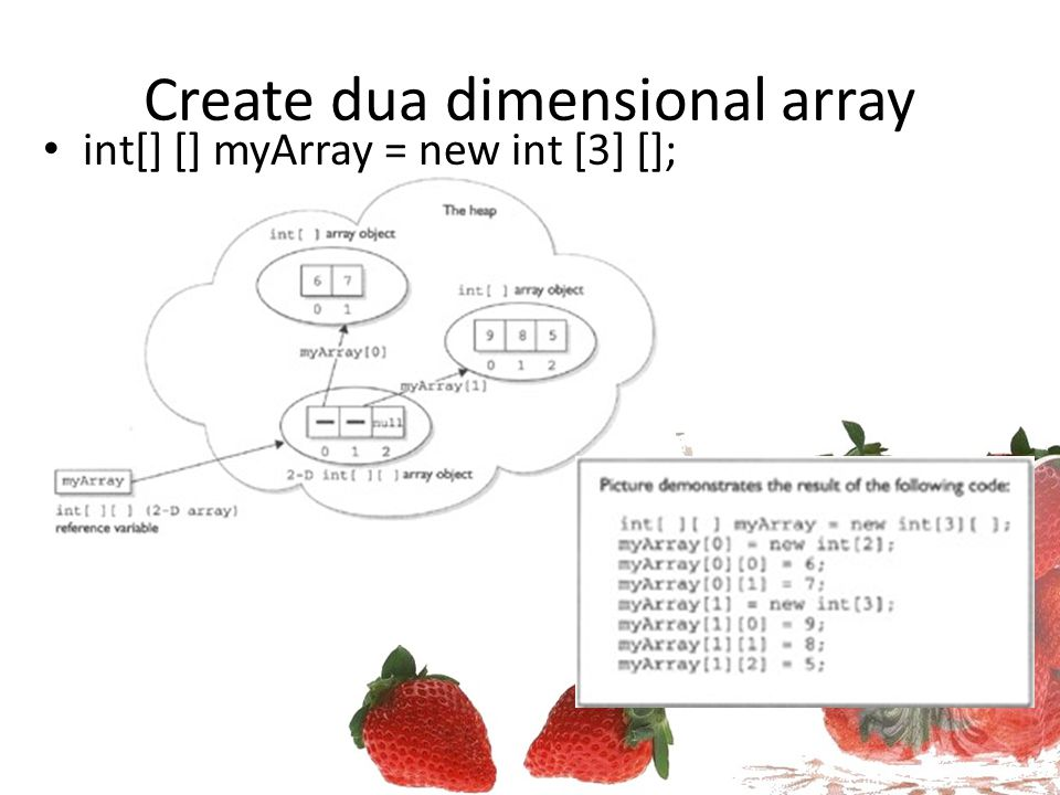 Create dua dimensional array
