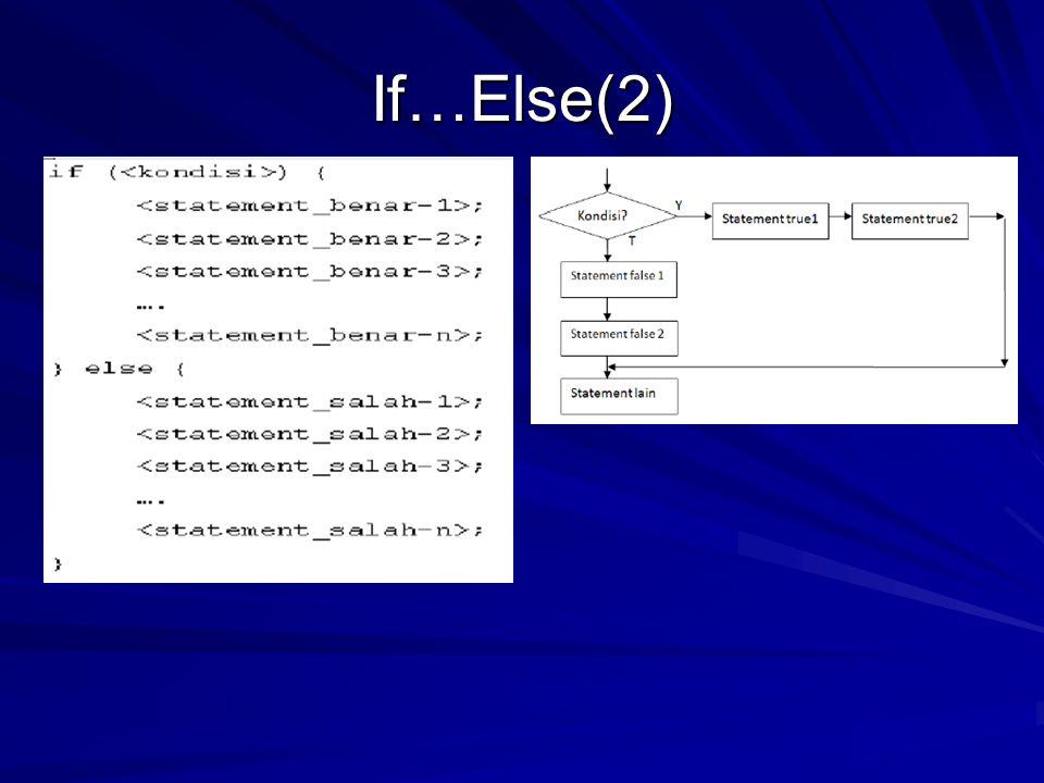 If…Else(2)