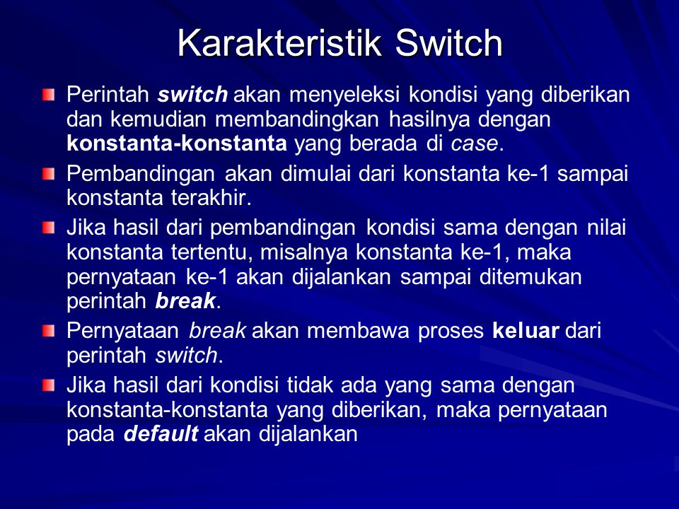 Karakteristik Switch