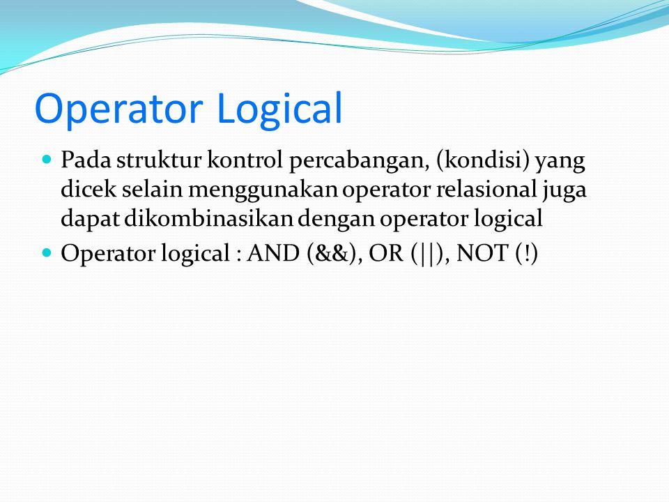 Operator Logical