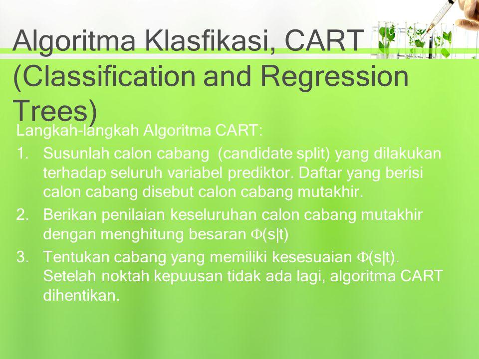 Algoritma Klasfikasi, CART (Classification and Regression Trees)