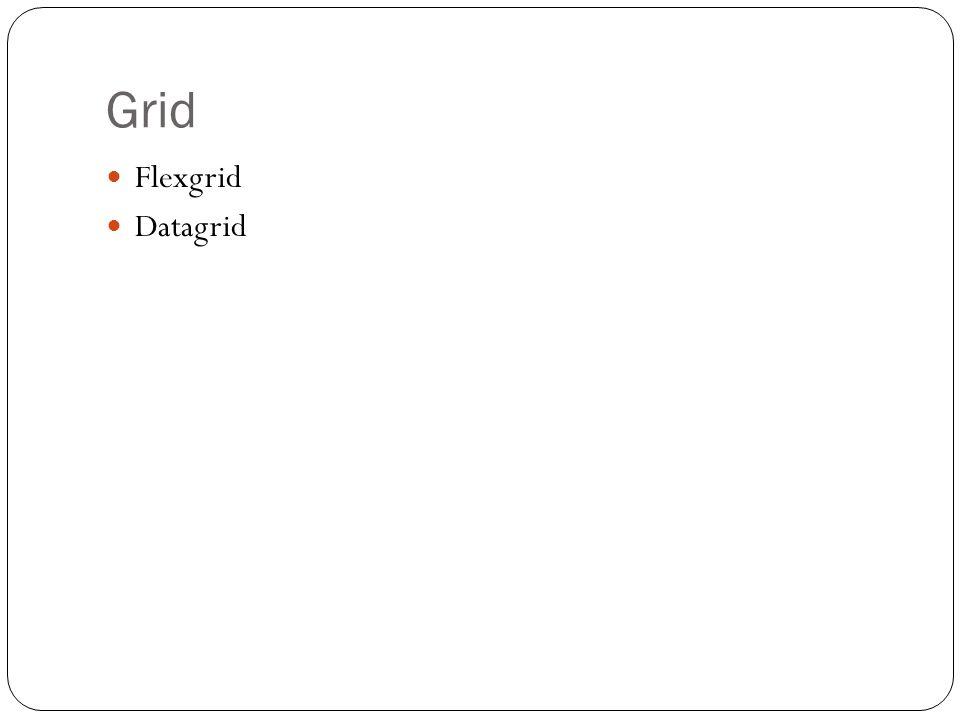 Grid Flexgrid Datagrid