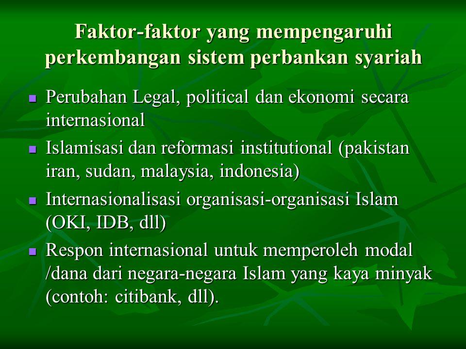 Faktor-faktor yang mempengaruhi perkembangan sistem perbankan syariah