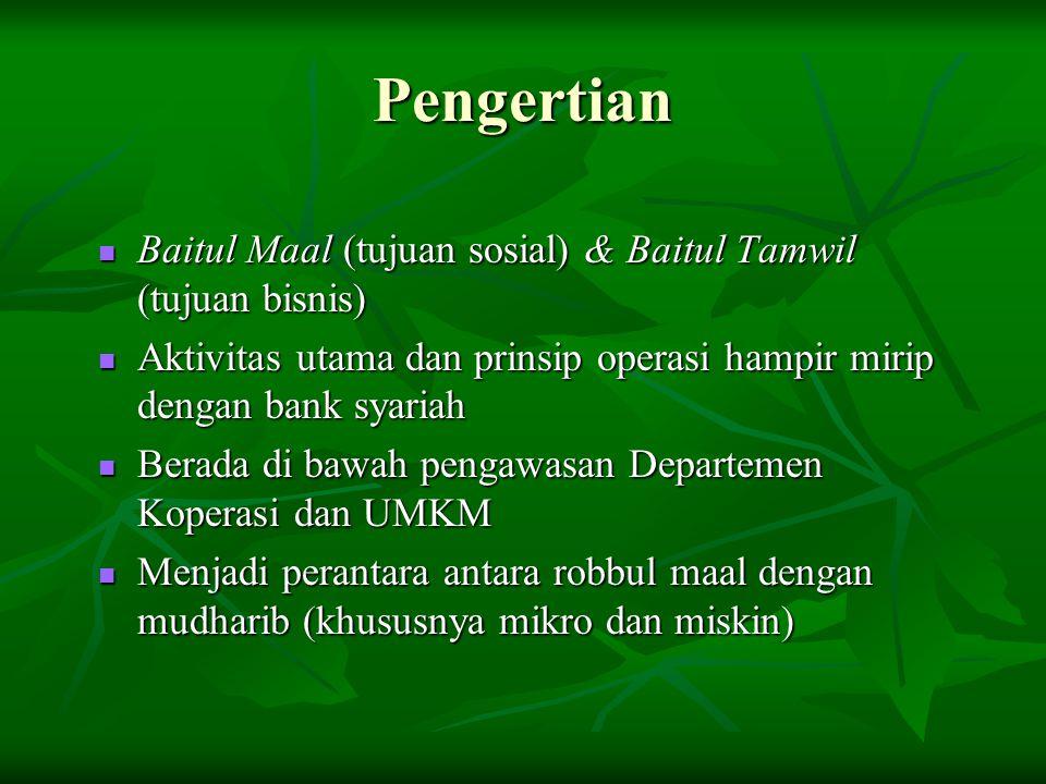Pengertian Baitul Maal (tujuan sosial) & Baitul Tamwil (tujuan bisnis)