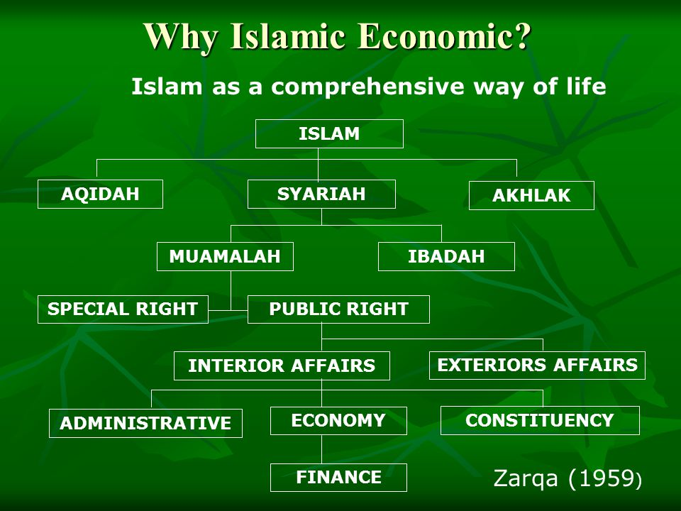 Islam as a comprehensive way of life