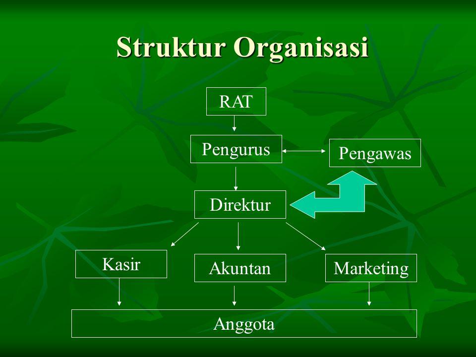 Struktur Organisasi RAT Pengurus Pengawas Direktur Kasir Akuntan