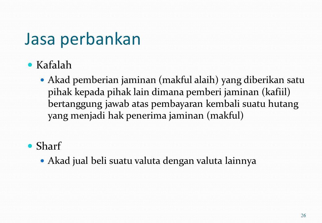Jasa perbankan Kafalah Sharf