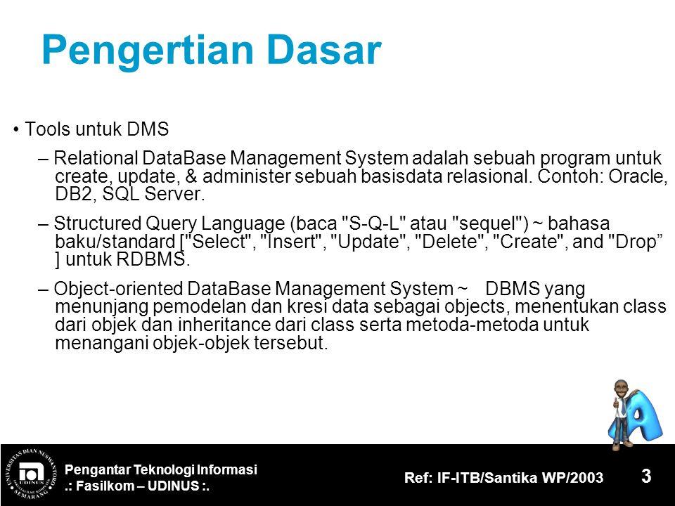 Pengertian Dasar • Tools untuk DMS