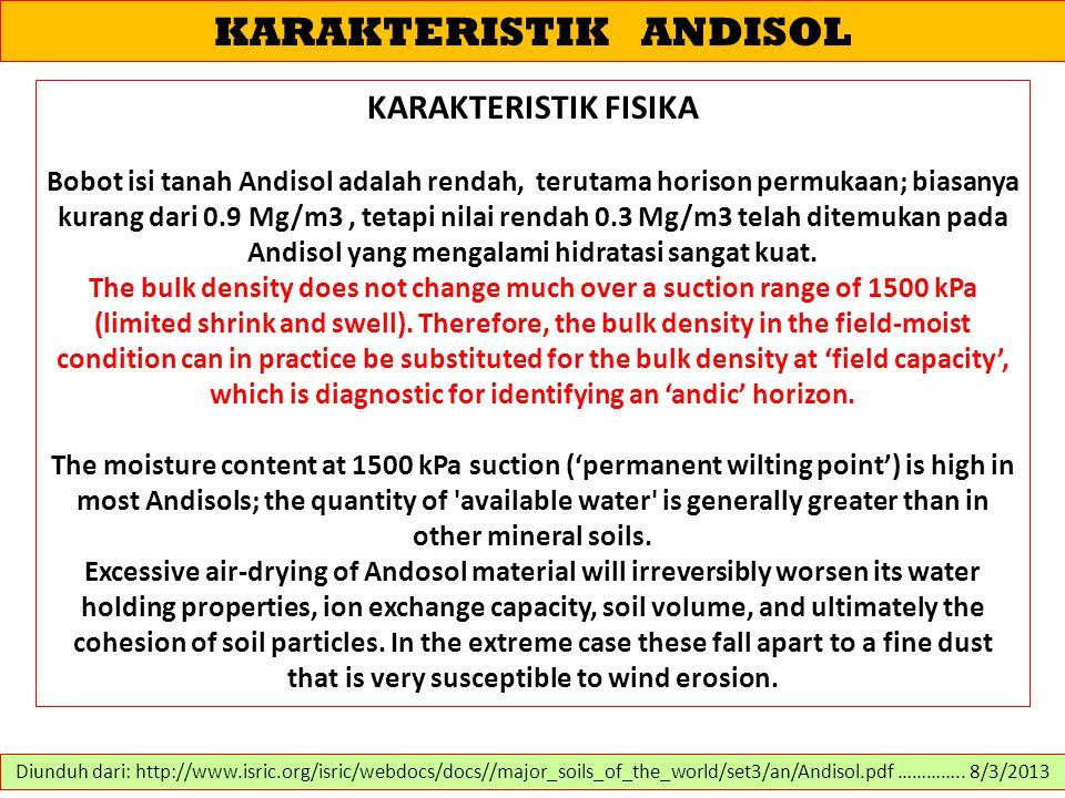 KARAKTERISTIK ANDISOL