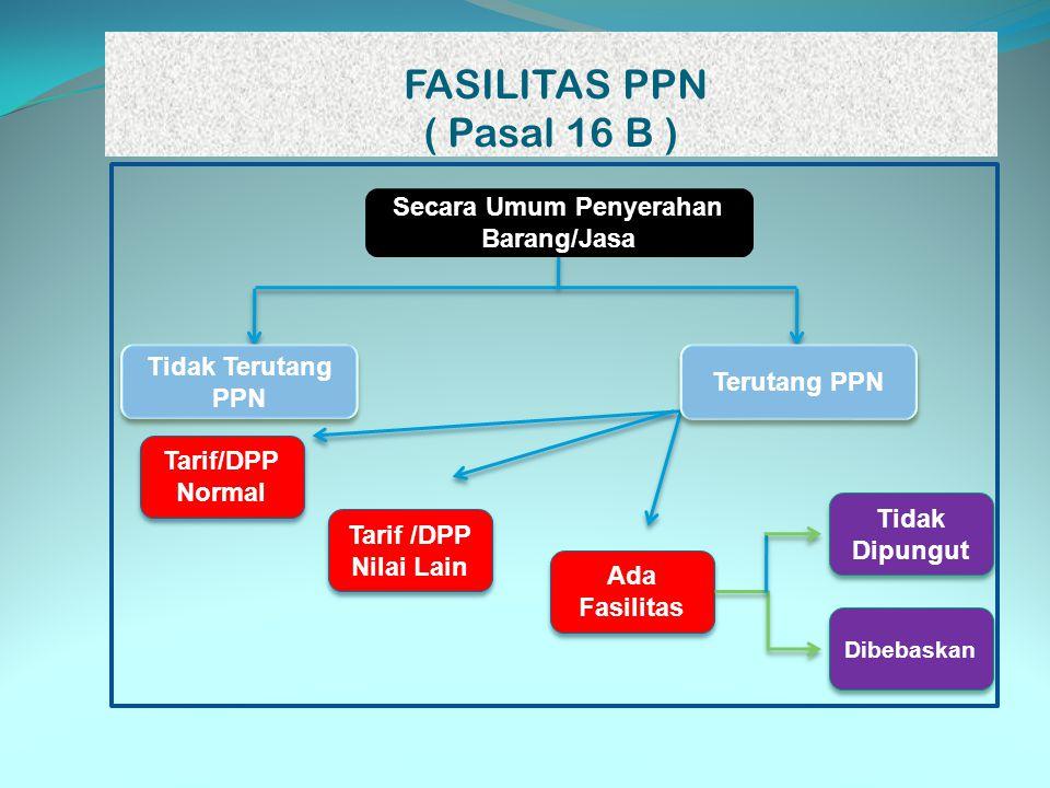 FASILITAS PPN ( Pasal 16 B )