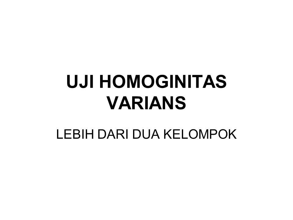 UJI HOMOGINITAS VARIANS
