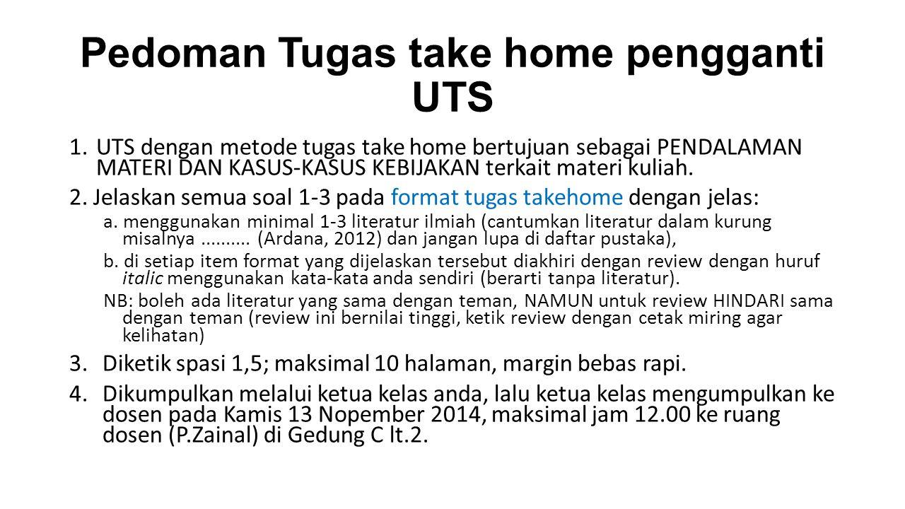 Pedoman Tugas take home pengganti UTS