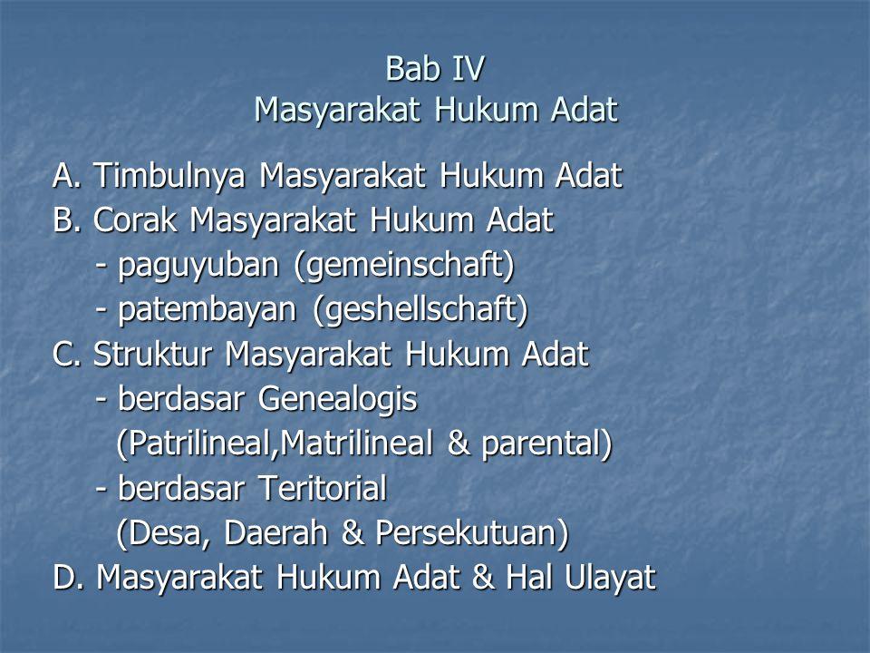 Bab IV Masyarakat Hukum Adat