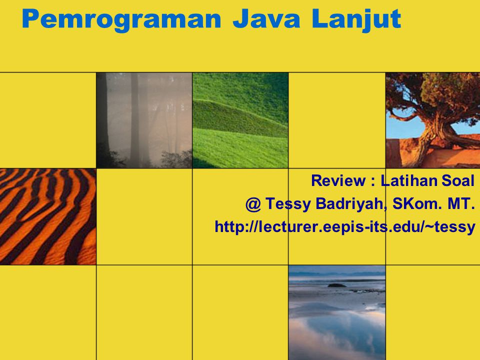 Pemrograman Java Lanjut