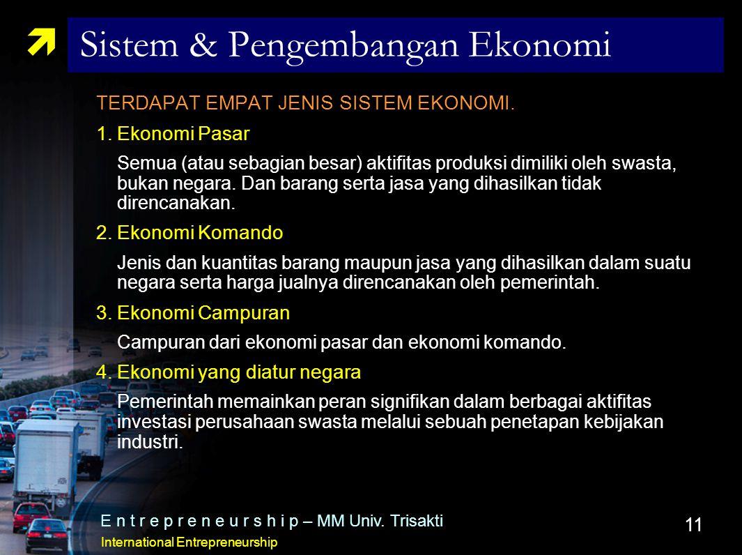 Sistem & Pengembangan Ekonomi
