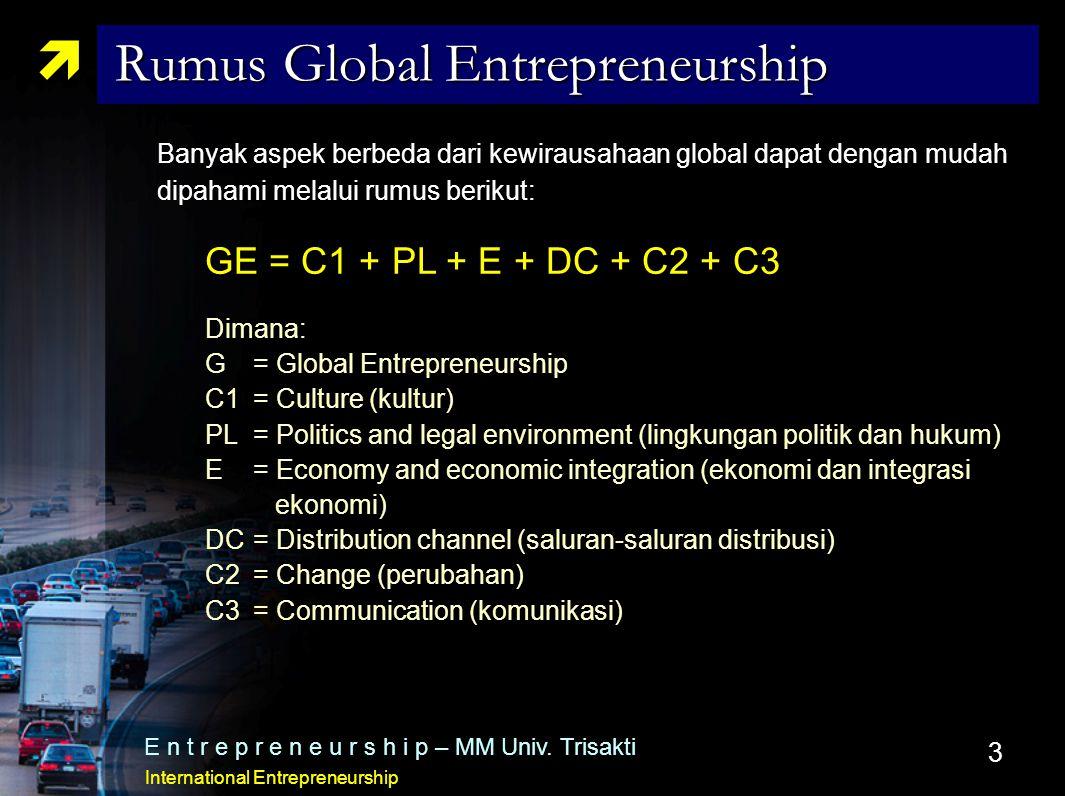 Rumus Global Entrepreneurship